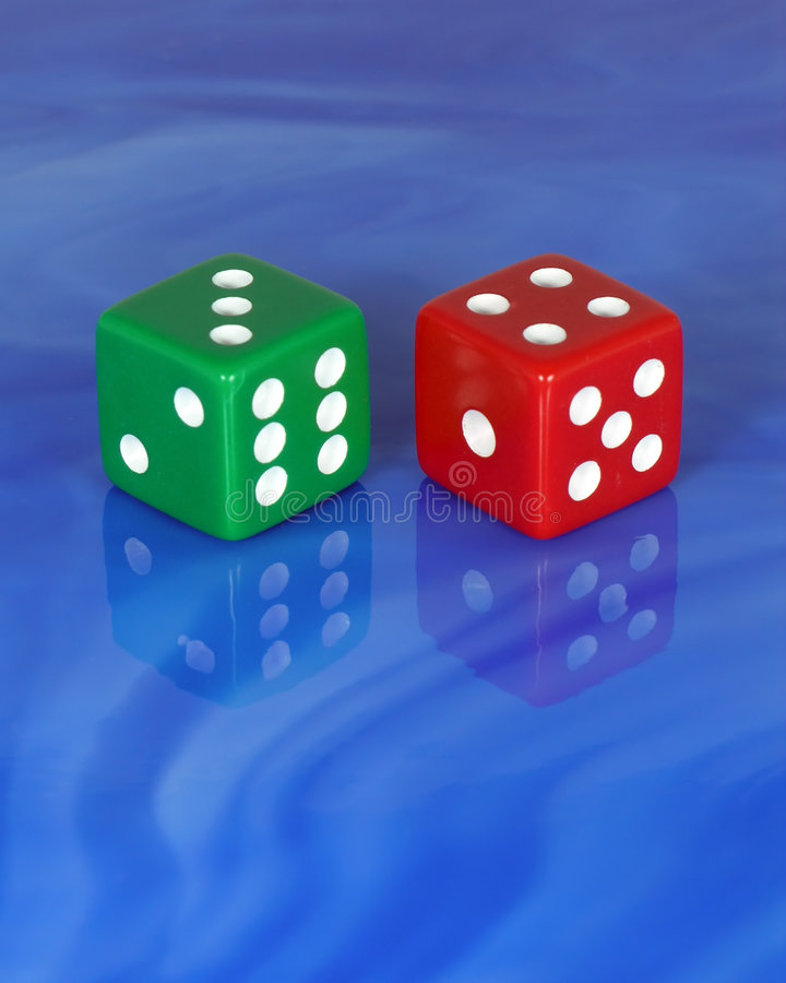 Download Lucky Seven stock photo. Image of tile, blue, glass, gamble - 82886