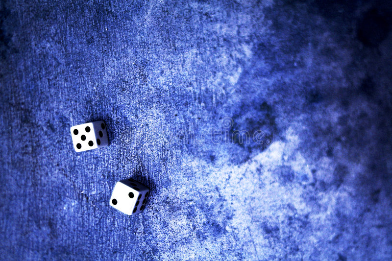 Lucky seven dice royalty free stock photo
