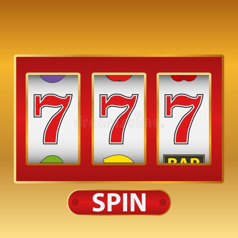 Lucky seven slot machine. royalty free illustration