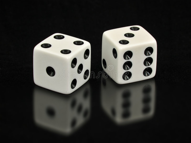 Download Lucky Sevens White Dice On Black Background Stock Image - Image: 6021367