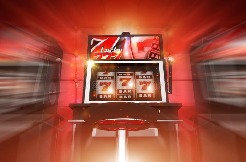 Lucky Slot Machine Winner stock illustratie