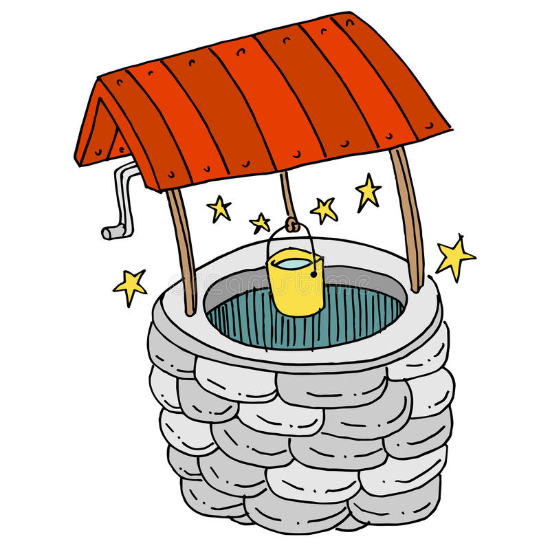 Lucky Wishing Well royalty free illustration