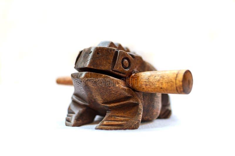 Lucky Wooden Frog från Thailand royaltyfri fotografi