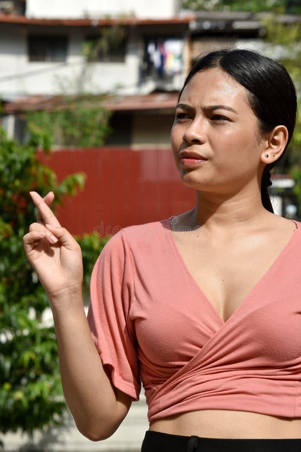 Lucky Young Filipina Person imagenes de archivo