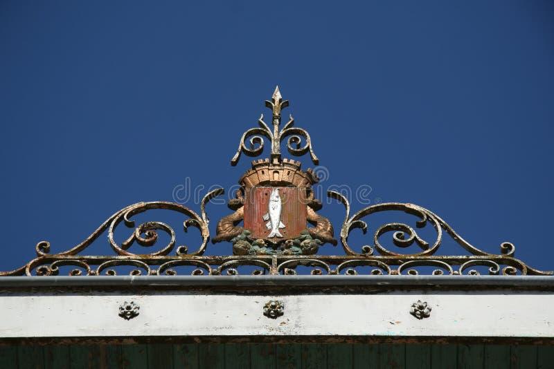 Lucon, França Jardin Dumaine, região do Vendee, jardins públicos imagens de stock