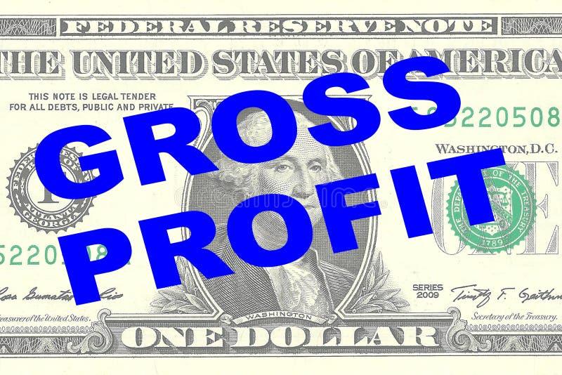 Lucro bruto - conceito financeiro ilustração royalty free