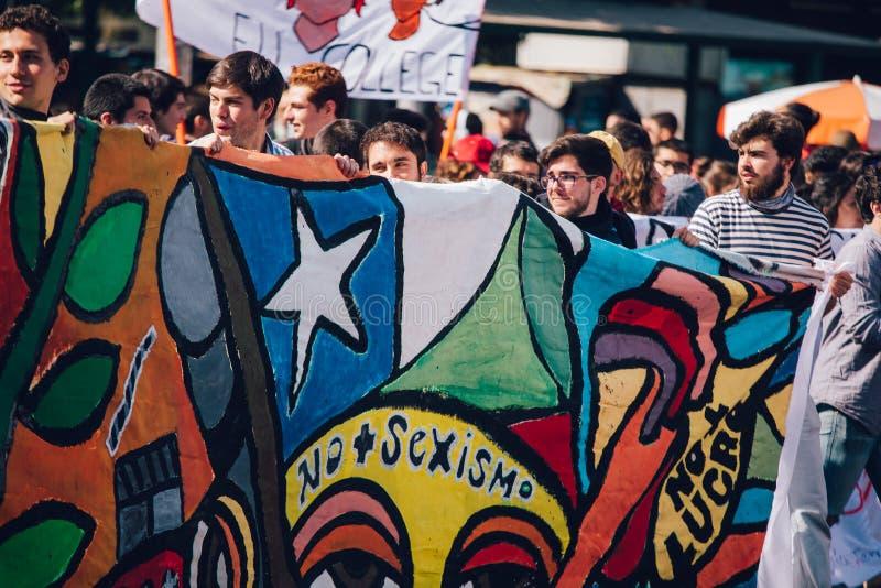 Lucro da educação do protesto dos estudantes imagem de stock
