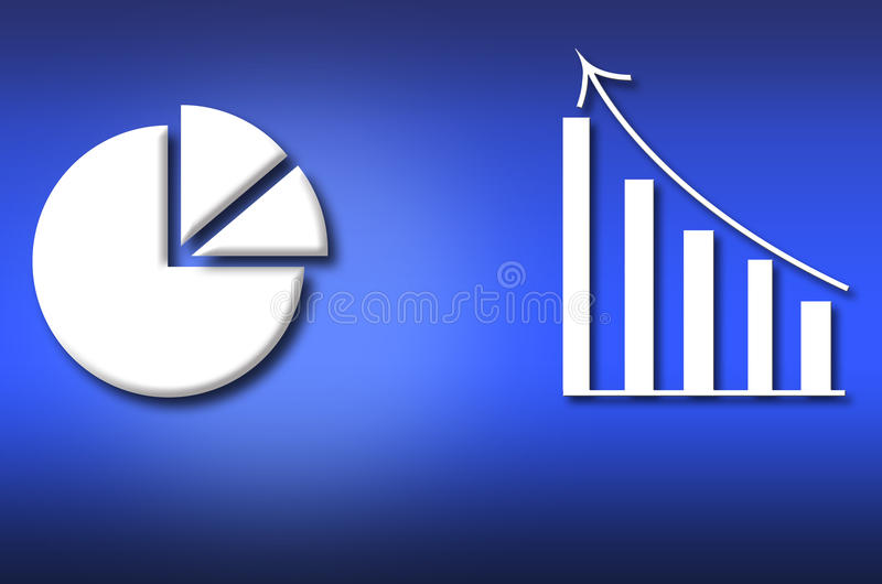 Lucro dos gráficos do planeamento empresarial ilustração do vetor