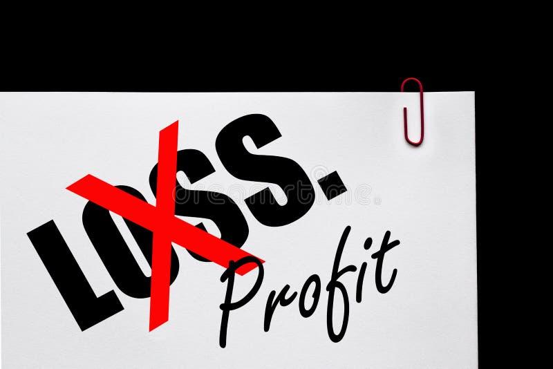 Lucro ou perda - plano de negócios? imagens de stock