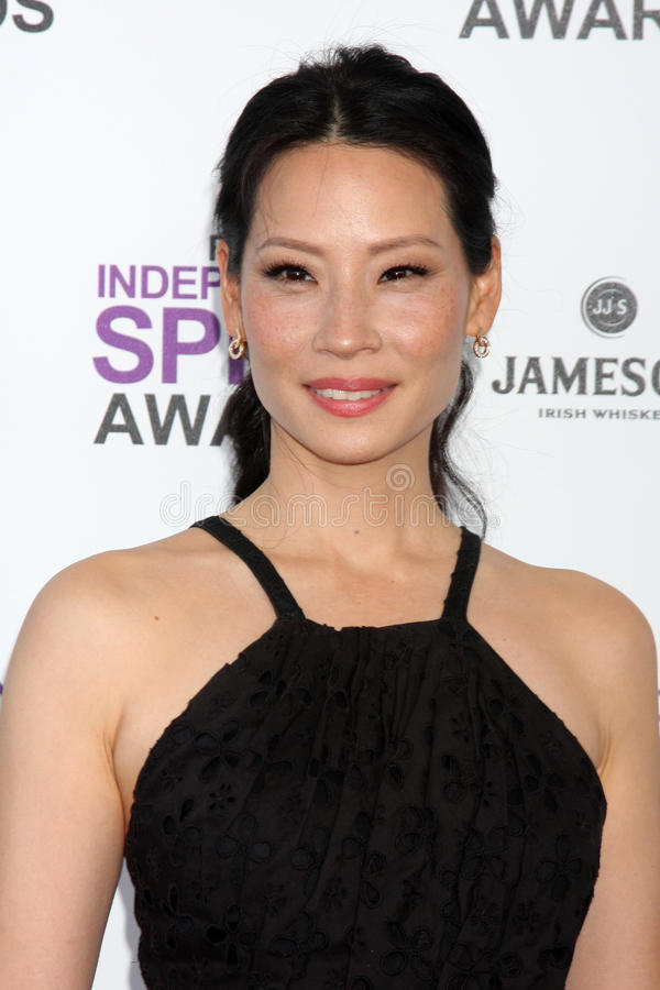 Lucy Liu. LOS ANGELES - FEB 25: Lucy Liu arrives at the 2012 Film Independent Spirit Awards at the Beach on February 25, 2012 in Santa Monica, CA stock photos