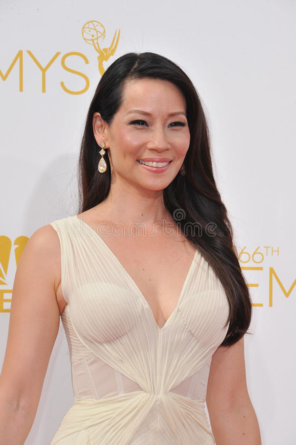 Lucy Liu. LOS ANGELES, CA - AUGUST 25, 2014: Lucy Liu at the 66th Primetime Emmy Awards at the Nokia Theatre L.A. Live downtown Los Angeles stock images