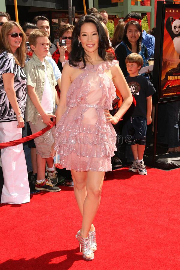 Lucy Liu. At the Los Angeles Premiere of 'Kung Fu Panda'. Grauman's Chinese Theatre, Hollywood, CA. 06-01-08 royalty free stock photography