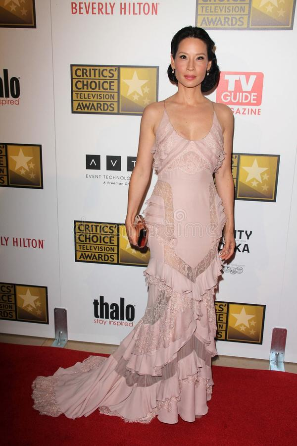 Lucy Liu at the Second Annual Critics' Choice Television Awards, Beverly Hilton, Beverly Hills, CA 06-18-12 royalty free stock photos