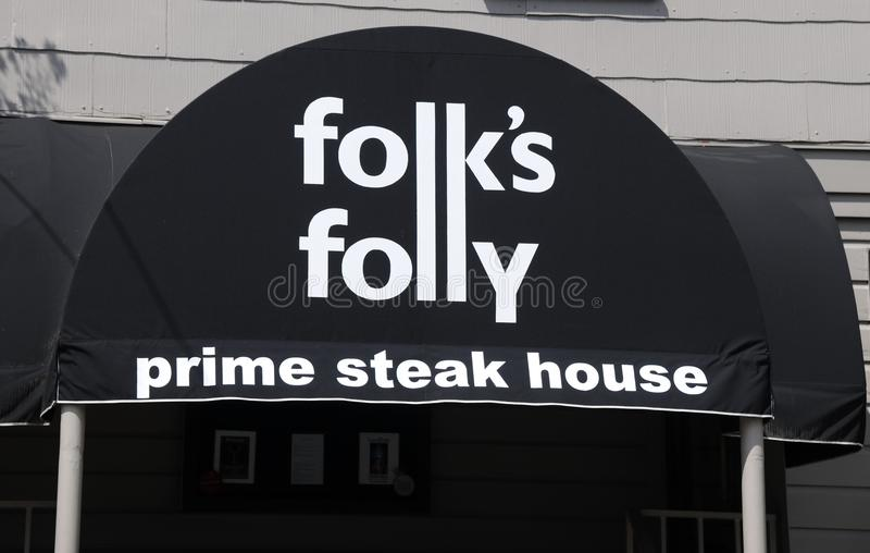 Lud głupoty steakhouse Pierwszorzędny znak zdjęcie stock