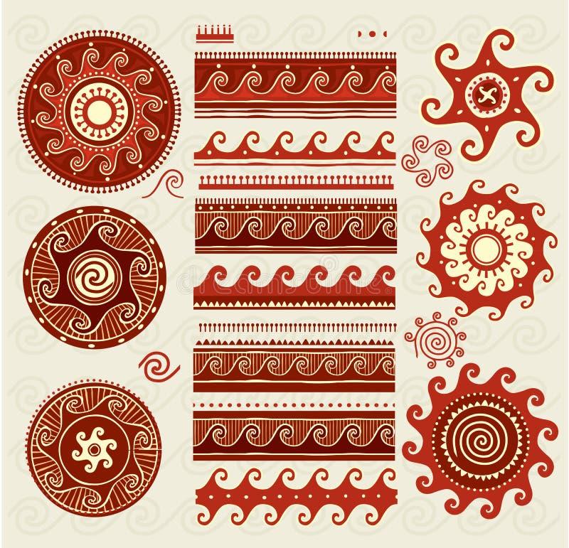 Lud ornamentuje elementy ilustracja wektor