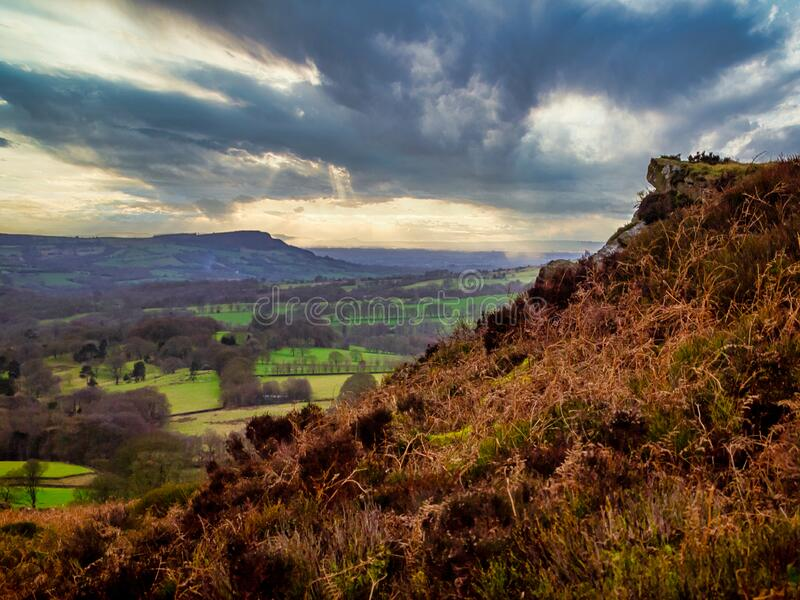 Lud`s Church, The Peak District, Staffordshire stock photography
