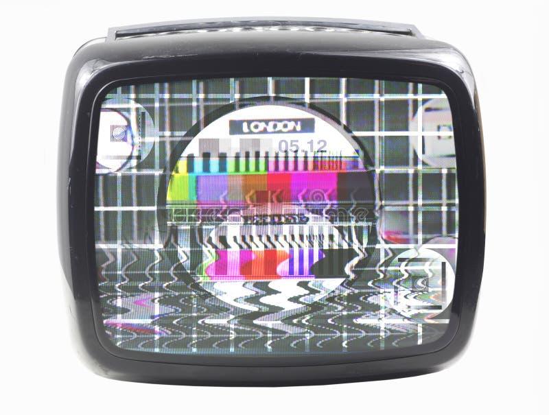 luddig tv royaltyfri fotografi
