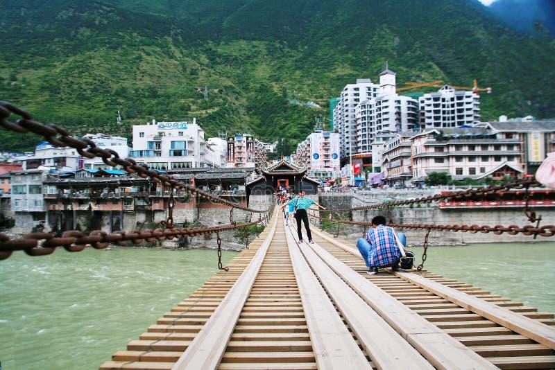 Luding most w Sichuan obraz royalty free