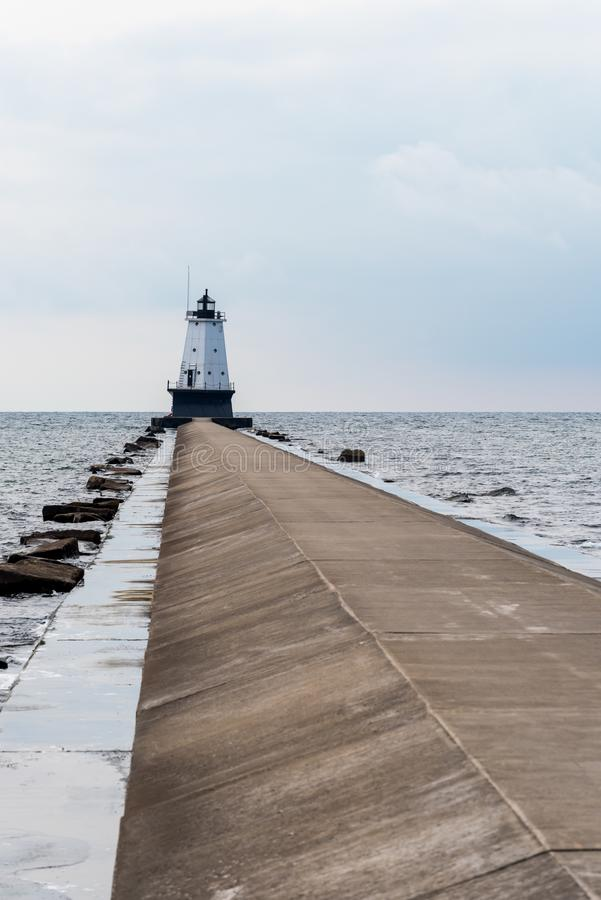 Ludington North Pierhead Lighthouse. On Lake Michigan at Ludington, Michigan royalty free stock photos