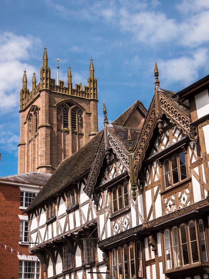 Ludlow -历史的英国镇 库存图片