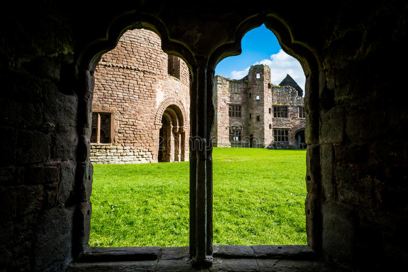 Ludlow Castle in Shropshire. London, United Kingdom - April 23, 2017: Ludlow Castle in Shropshire, England, UK royalty free stock images