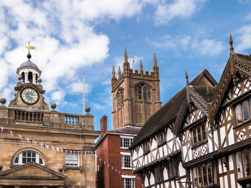 Ludlow - ciudad inglesa histórica foto de archivo libre de regalías