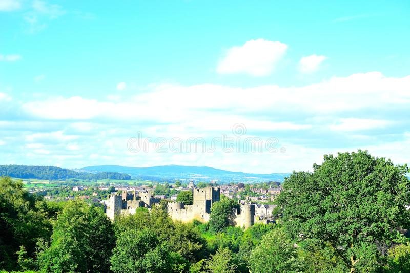 ludlow kasteel in Engeland stock foto