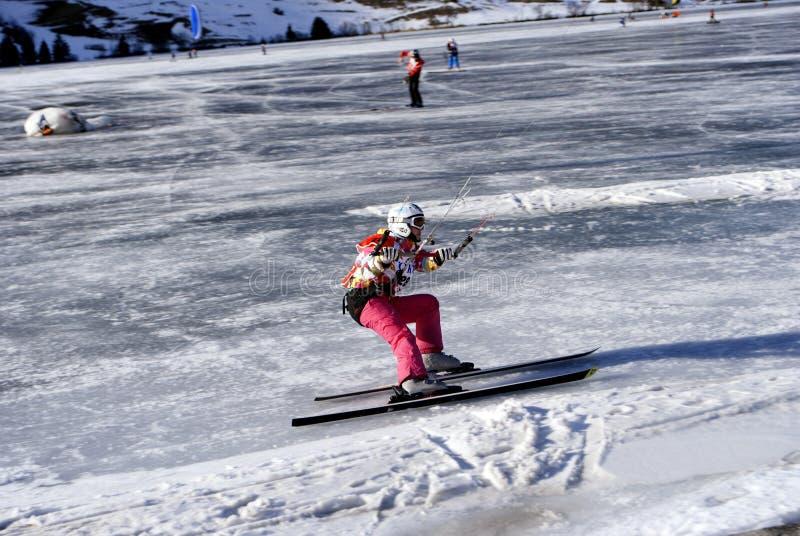 ludmila polyakova snowkite obraz stock