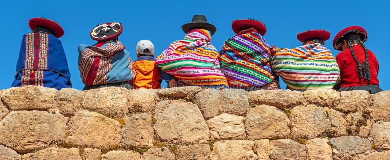 Ludność autochtoniczna Keczua, Cuzco, Peru fotografia stock