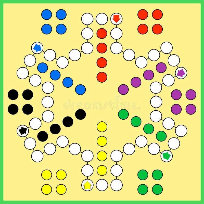 Ludo-Brettspiel lizenzfreie abbildung