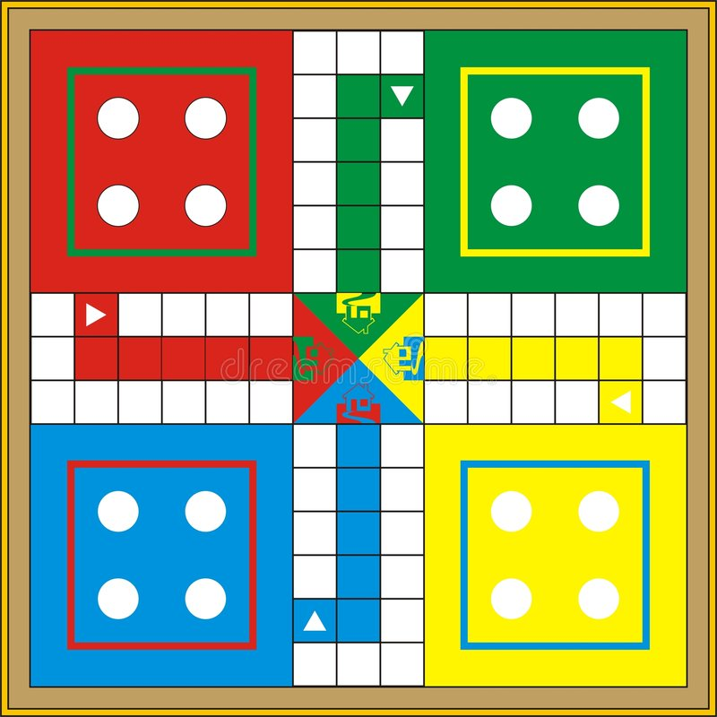 Download Ludo-Print & Gift or Play stock illustration. Image of players - 4433972