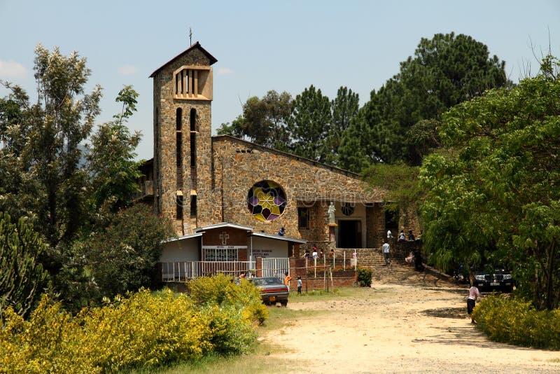 Ludobójstwo Pamiątkowy kościół w Kibuye, Rwanda zdjęcie royalty free