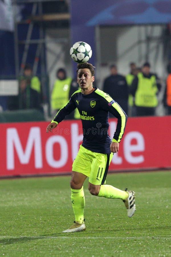 Ludogorets gegen Arsenalfußballspiel stockbilder