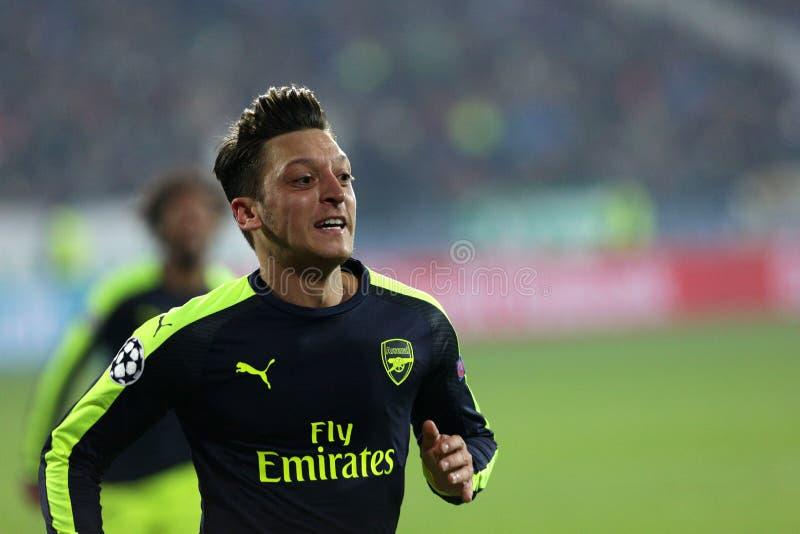 Ludogorets gegen Arsenalfußballspiel lizenzfreie stockbilder