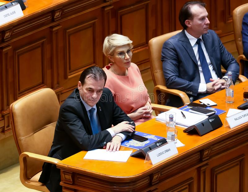 Ludovic Orban, the new Romanian prime minister stock photos