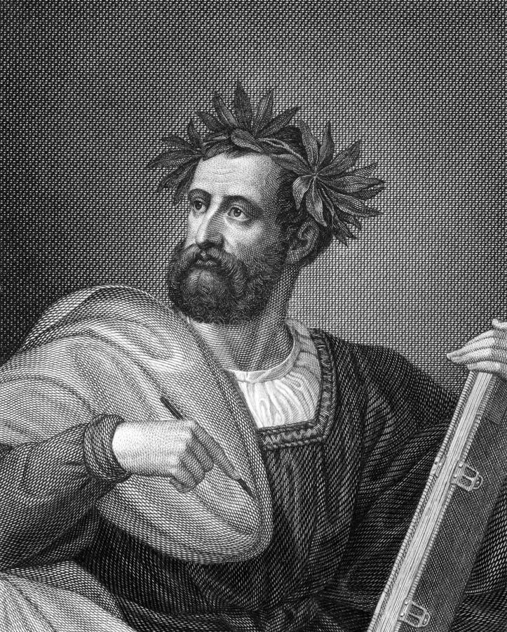 Ludovico Ariosto royaltyfri bild