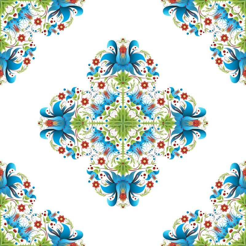 Ludowi etniczni kwieciści ornamenty również zwrócić corel ilustracji wektora ilustracji