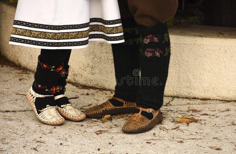 Ludowi kostiumy Serbia obrazy stock