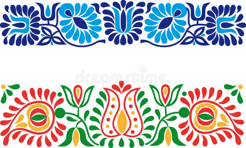 Ludowi ornamenty ilustracja wektor