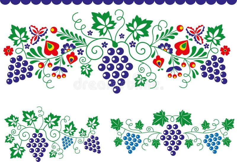 Ludowi ornamenty ilustracji