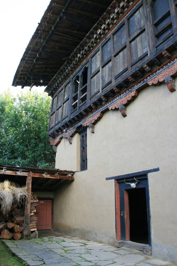 (2) ludowy dziedzictwa muzeum Thimphu, Bhutan - obraz royalty free