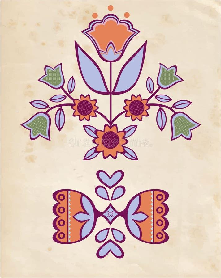 Ludowy ornament ilustracji
