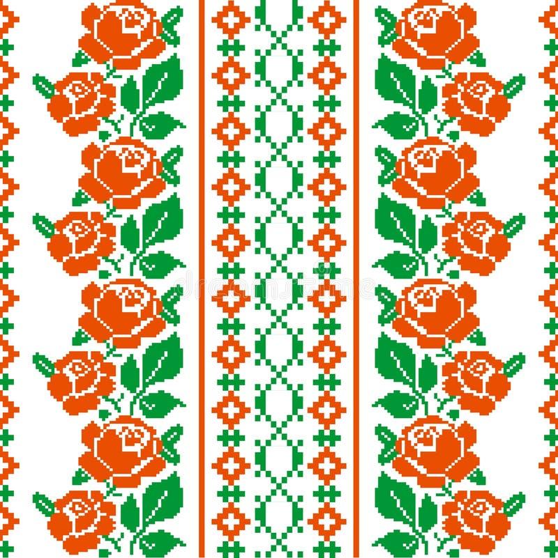 Ludu stylowy tkaniny wzór royalty ilustracja