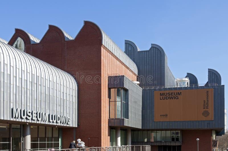 Ludwig Museum dans la ville de Cologne, Allemagne image stock