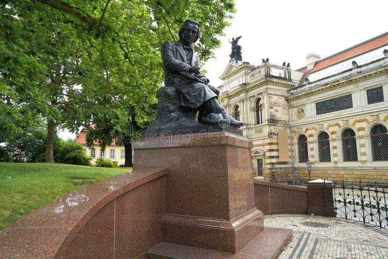 Ludwig Richter αναμνηστική denkmal Δρέσδη Γερμανία στοκ εικόνες