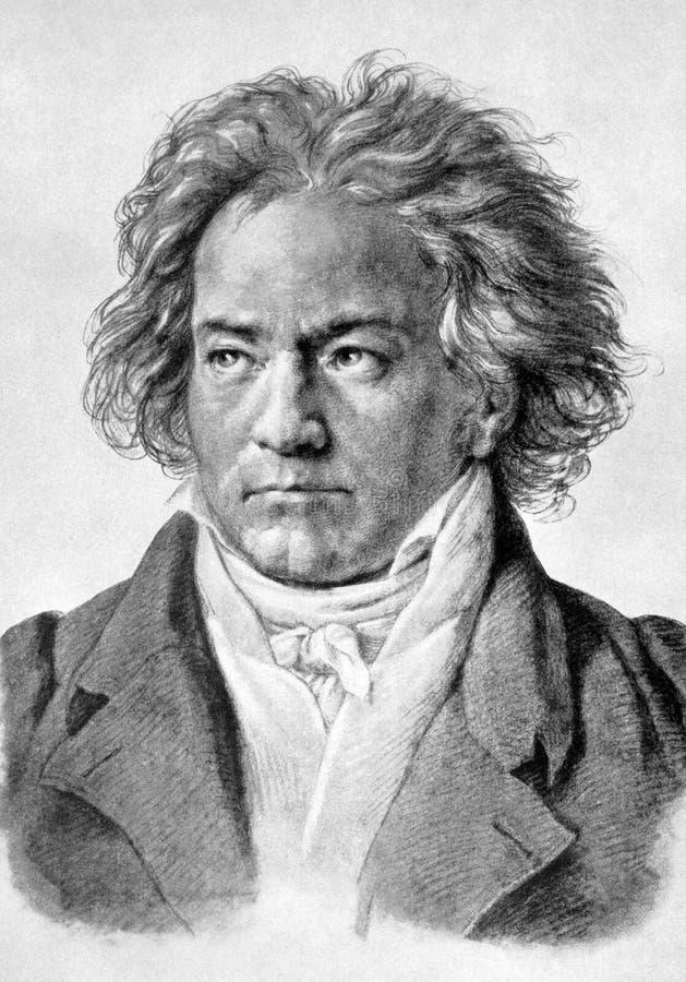 Ludwig Van Beethoven ilustração royalty free