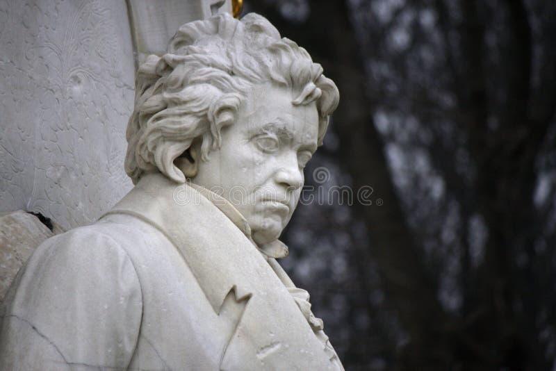 Ludwig van Beethoven. DECEMBER 2013 - BERLIN: the bust of Ludwig van Beethoven at the conductors monument (Komponistendenkmal) in the Tiergarten park of Berlin stock images