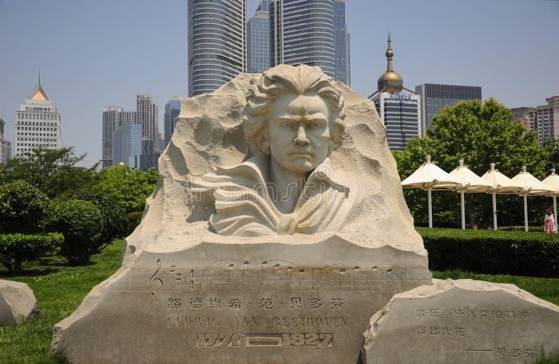 Ludwig Van Beethoven Qingdao China imagem de stock