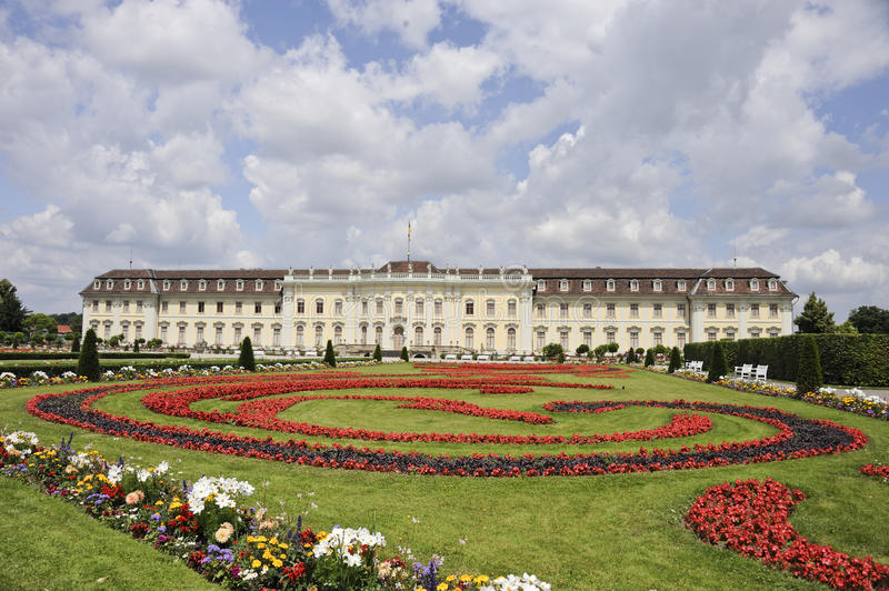 Ludwigsburg Chateau. Is one of the finest chateaux in the south-western part of Germany stock images
