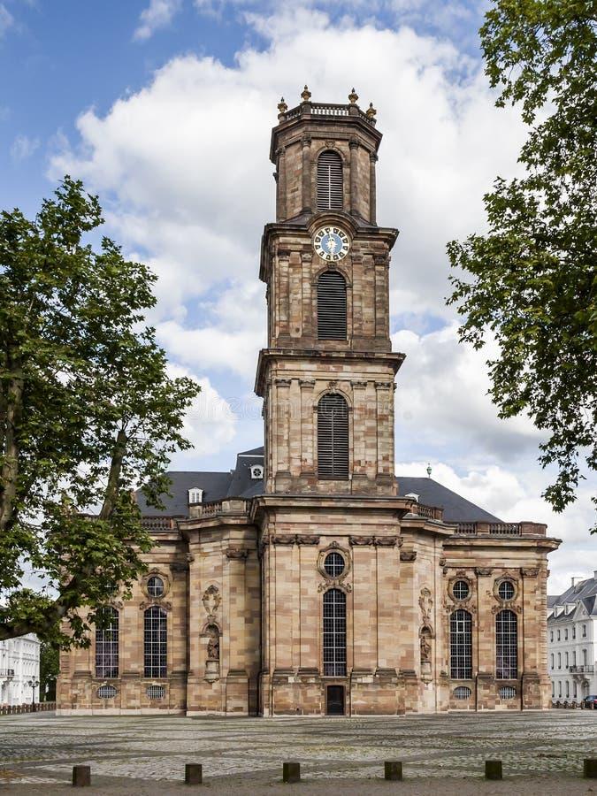 Ludwigskirche Saarbrücken stockbild